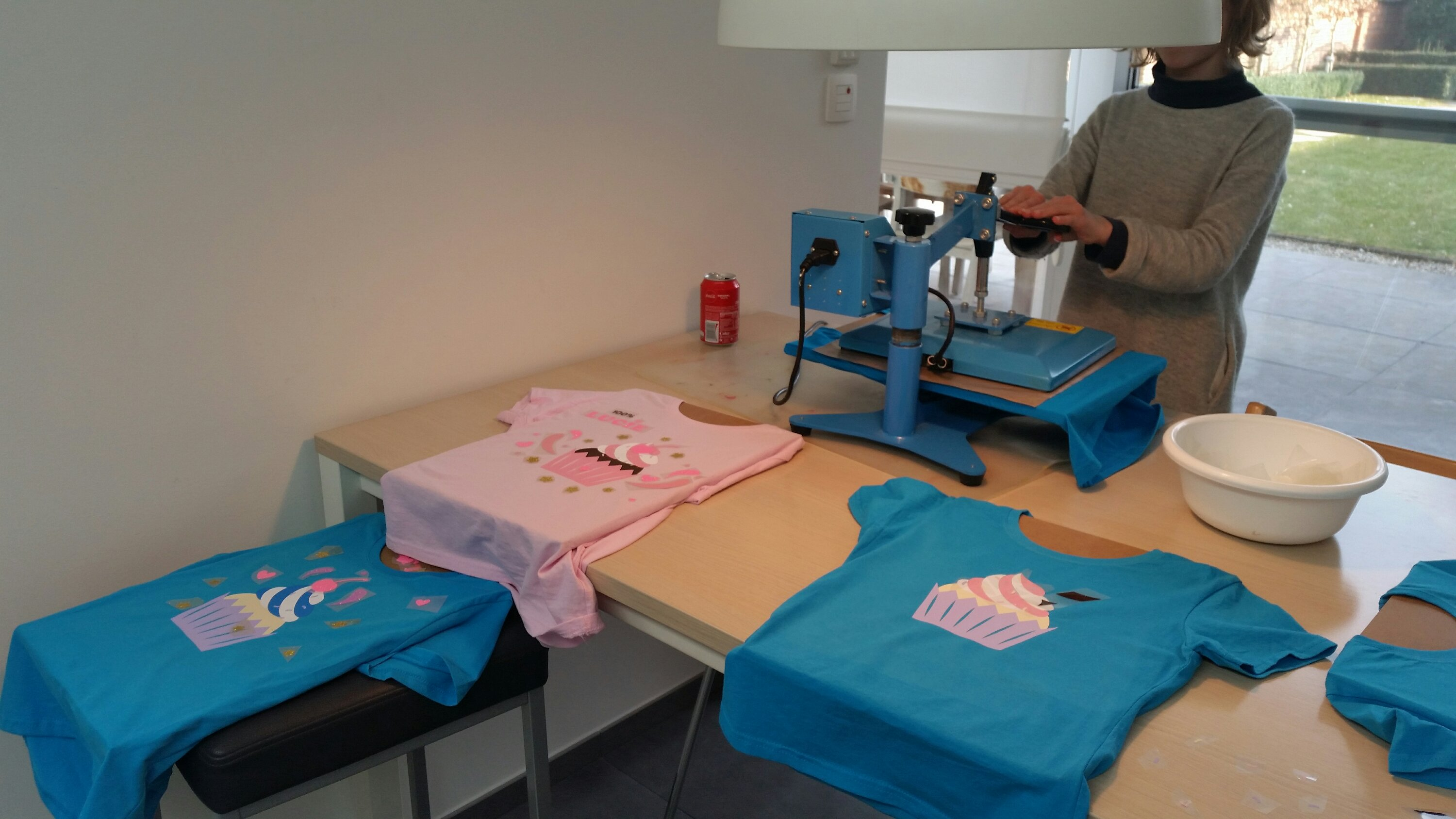 Cupcake T-shirt versieren in Elversele